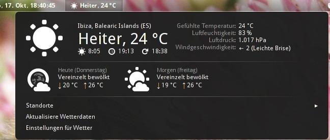 افزونه openweather برای نمایش وضیت آب و هوا